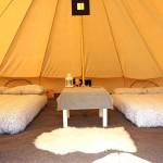 Inside a Honeybells Tent